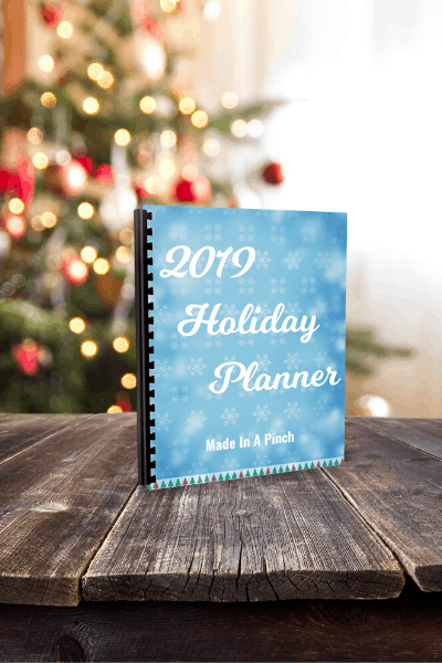 2019 Holiday Planner from Made in a Pinch