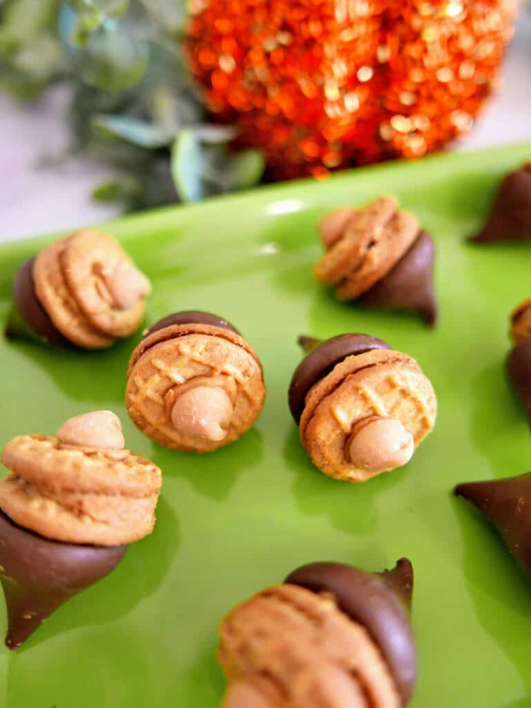 Adorable Chocolate Peanut Butter Acorn Treats - Made In A Pinch